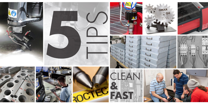 Top Five Tank Tips for Better Abrasive Waterjet Cutting